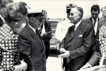 Imatges del reportatge 779234 - Visita del dictador General Francisco Franco a Roses