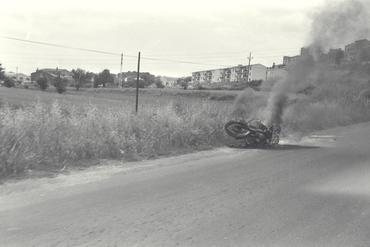 Imatges del reportatge 779197 - Accident de moto a la carretera de Llagostera