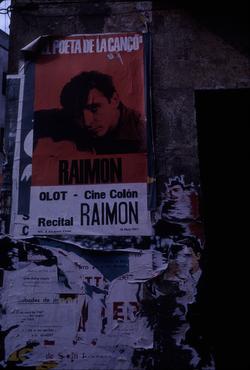 Imatges del reportatge 780625 - Cartell de Raimon