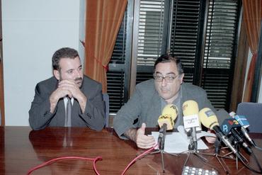 Imatges del reportatge 781168 - Roda de premsa de Joaquim Nadal i Joan Pluma