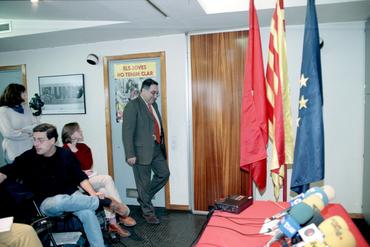 Imatges del reportatge 781453 - Roda de premsa de Joaquim Nadal a la seu del PSC