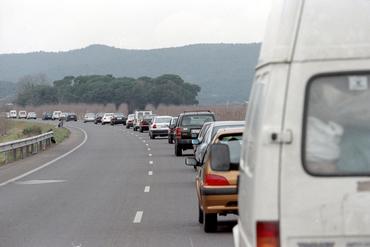 Imatges del reportatge 781571 - Cues a la carretera a Platja d'Aro