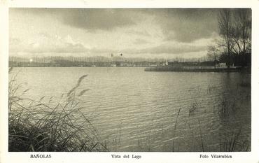 Imatge 54785 - Postal d'una vista parcial de l'estany de Banyoles